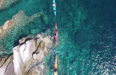 Sea kayaking rock  hopping