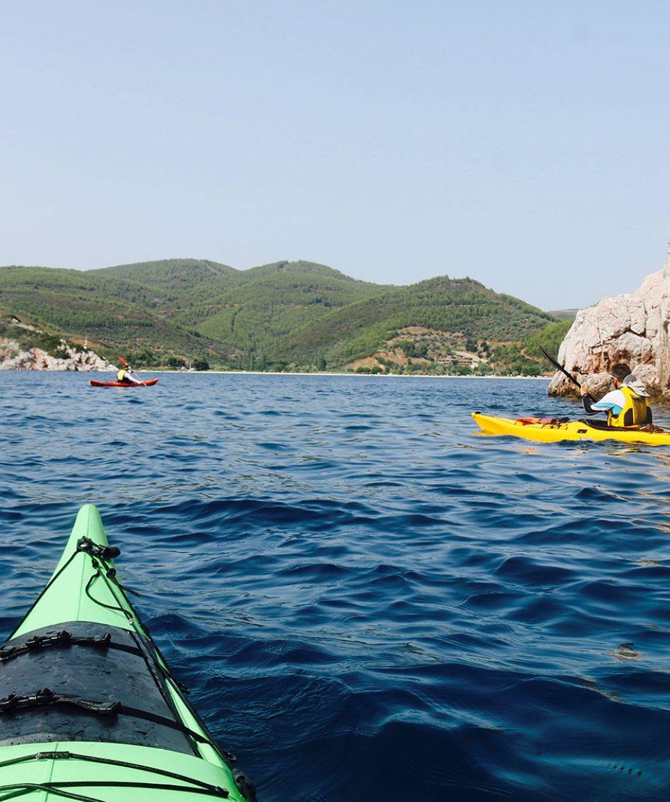 Sea kayaking Halkidiki